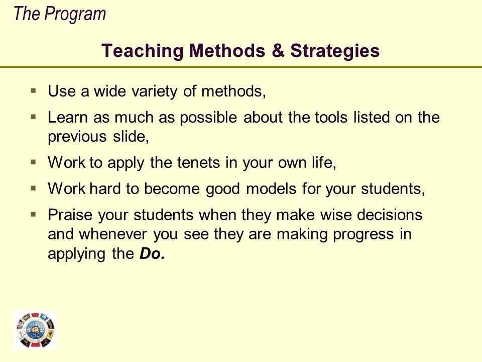 Teaching Methods & Strategies