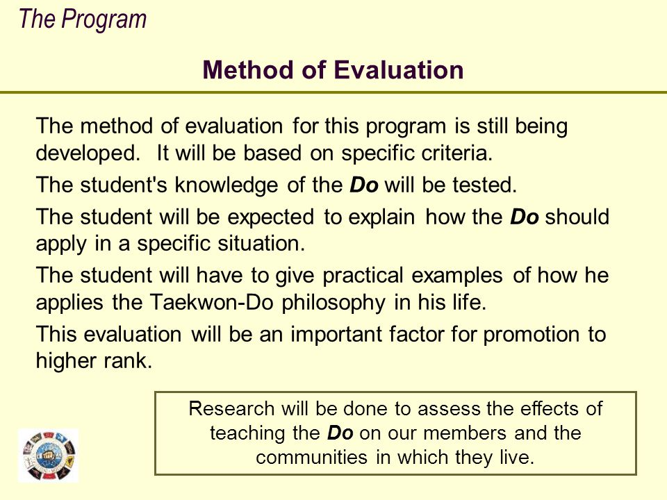 The Program Method of Evaluation