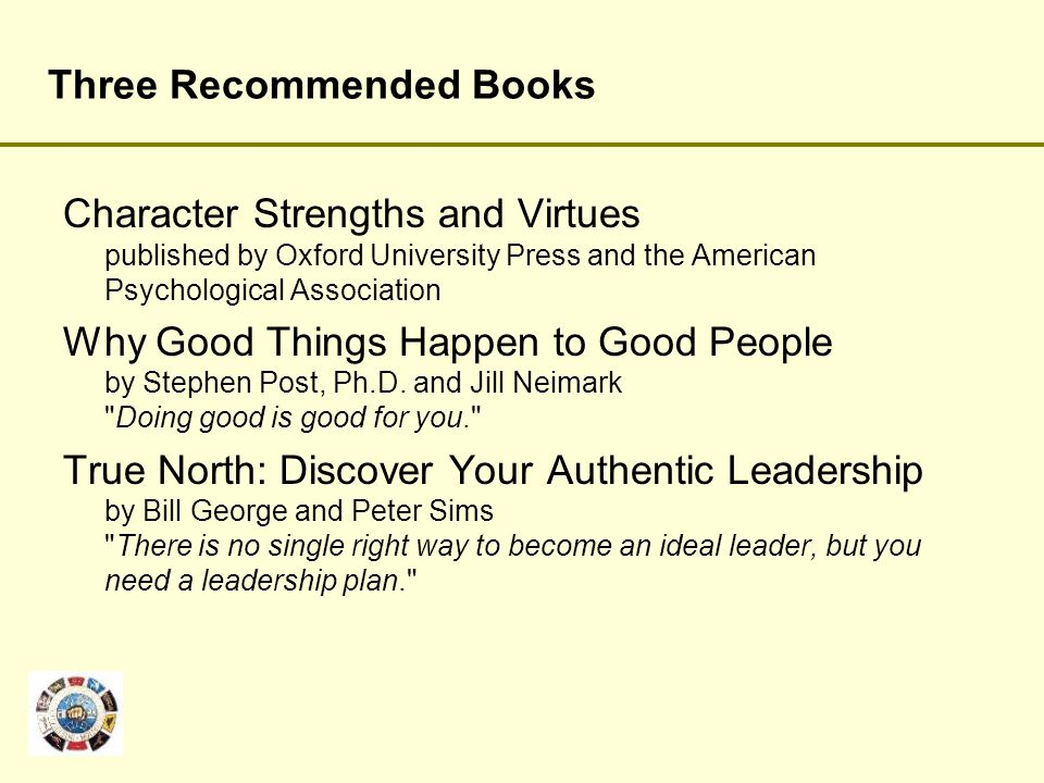 Three Recommended Books
