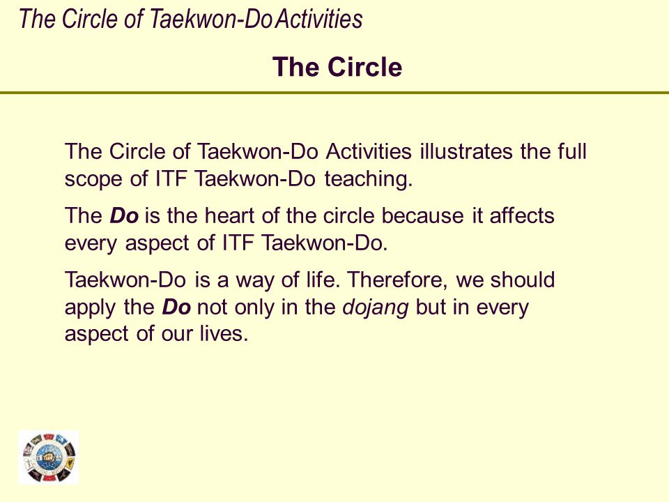 The Circle of Taekwon-Do Activities