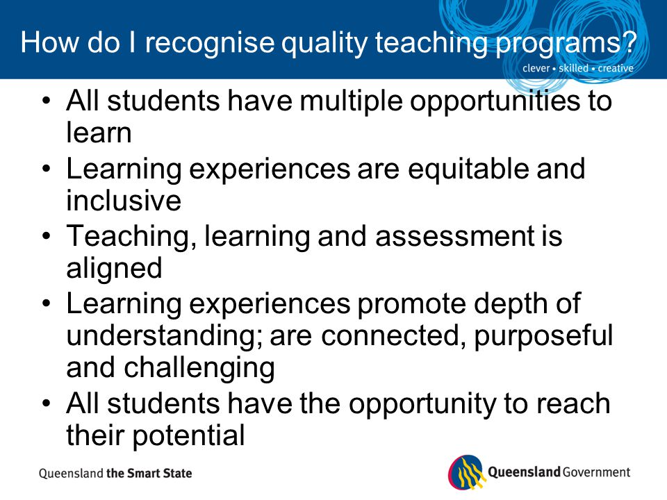 How do I recognise quality teaching programs