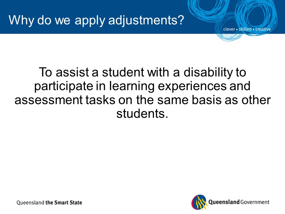 Why do we apply adjustments