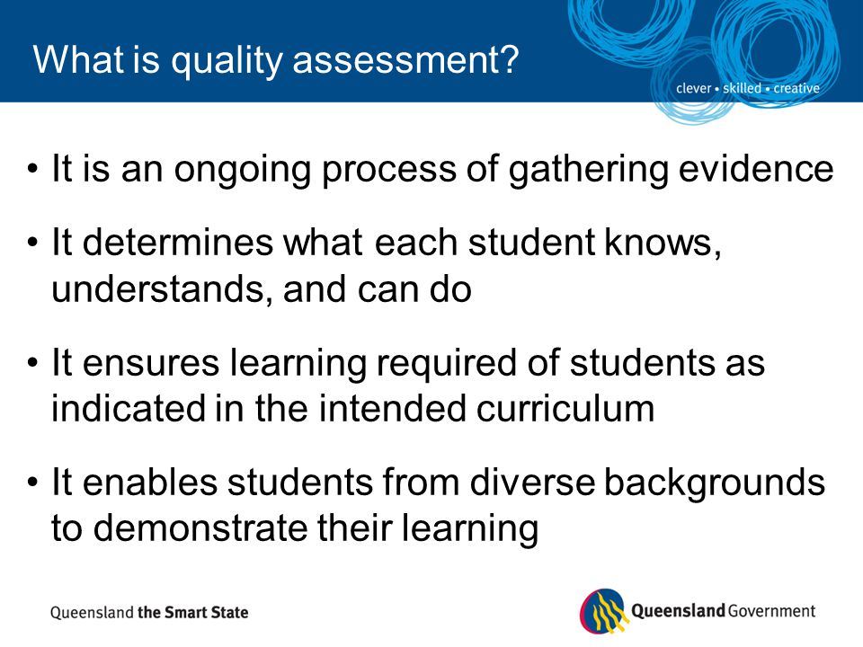 What is quality assessment
