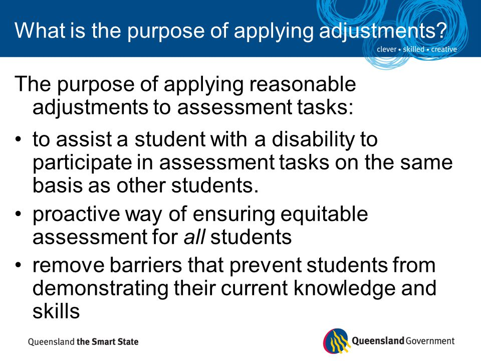 What is the purpose of applying adjustments