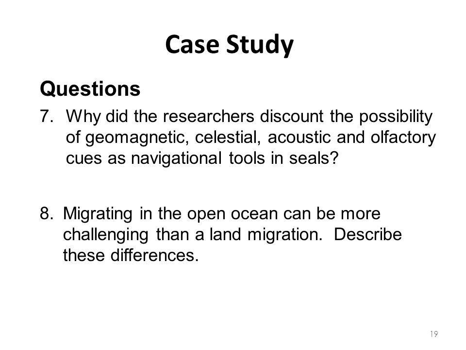 Case Study Questions.