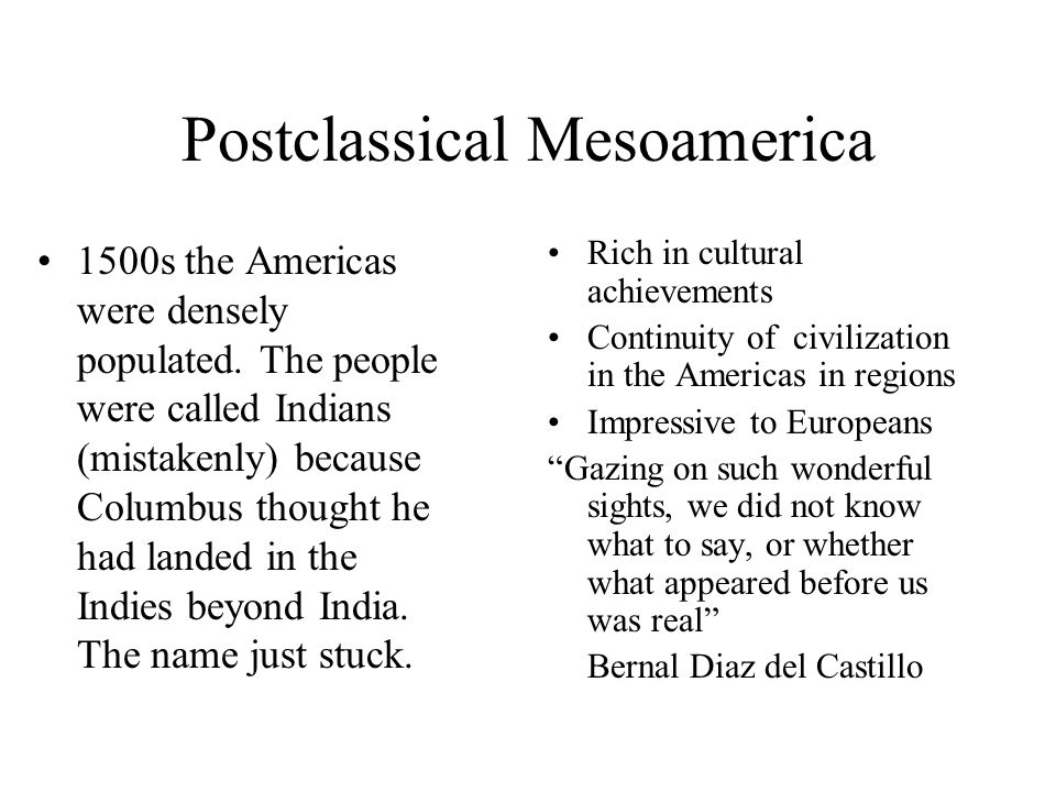 Postclassical Mesoamerica