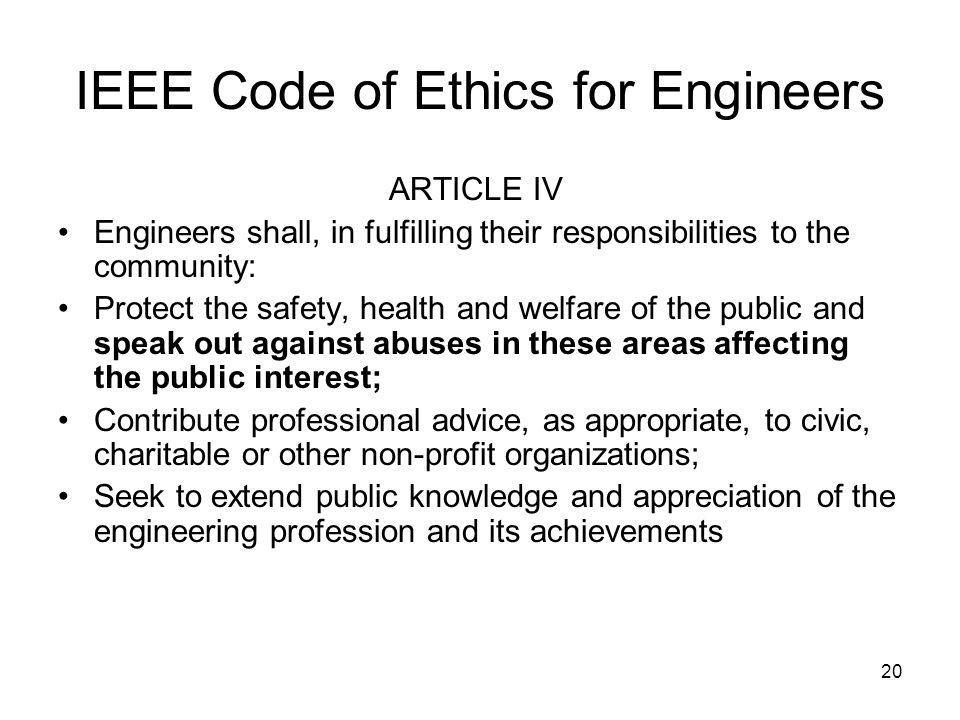 IEEE Code of Ethics for Engineers