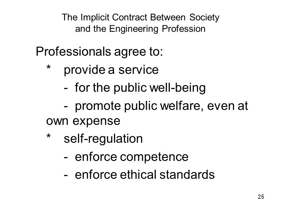 The Implicit Contract Between Society and the Engineering Profession