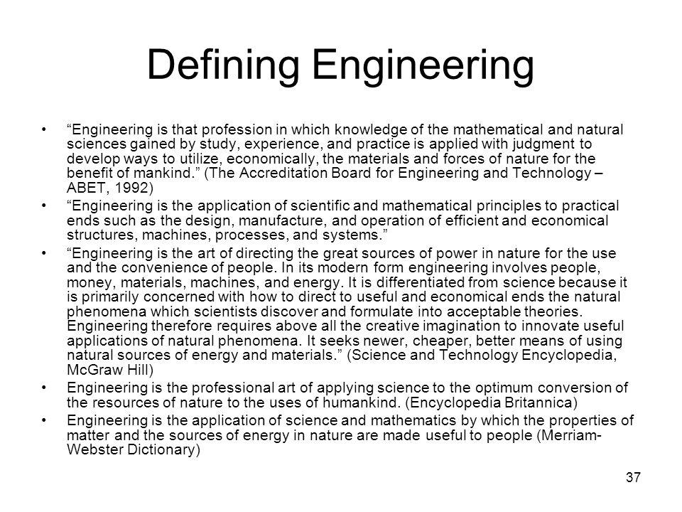 Defining Engineering