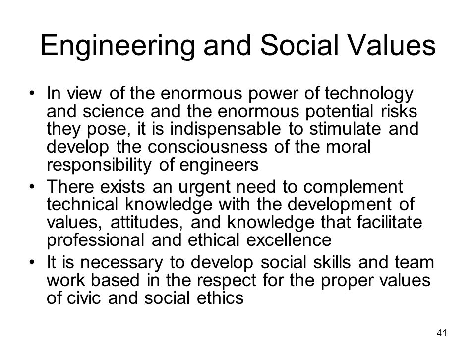 Engineering and Social Values