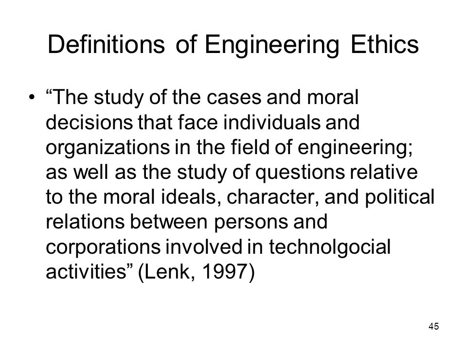 Definitions of Engineering Ethics