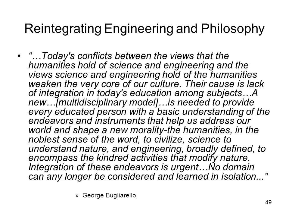 Reintegrating Engineering and Philosophy