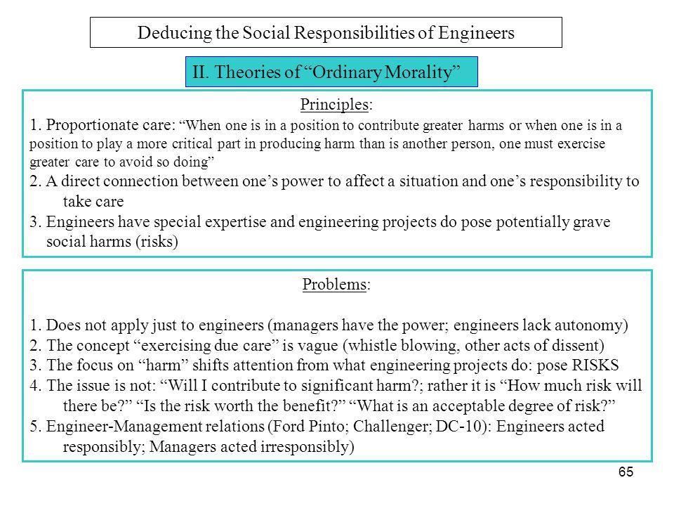 Deducing the Social Responsibilities of Engineers