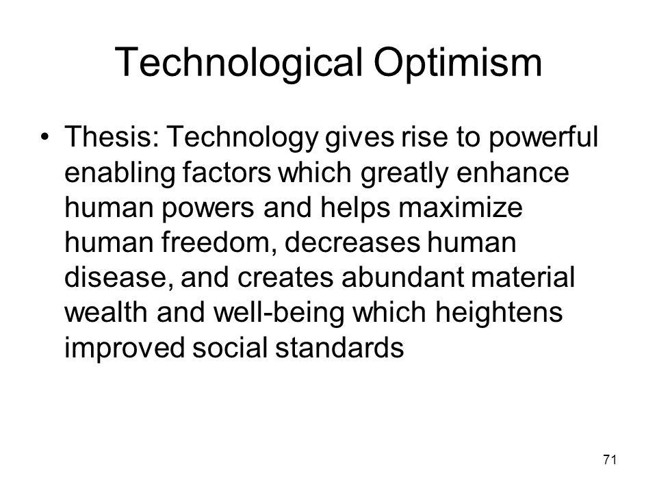 Technological Optimism