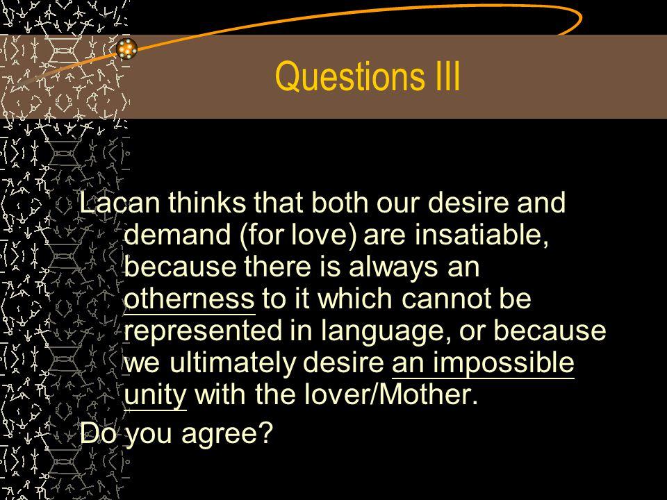 Questions III