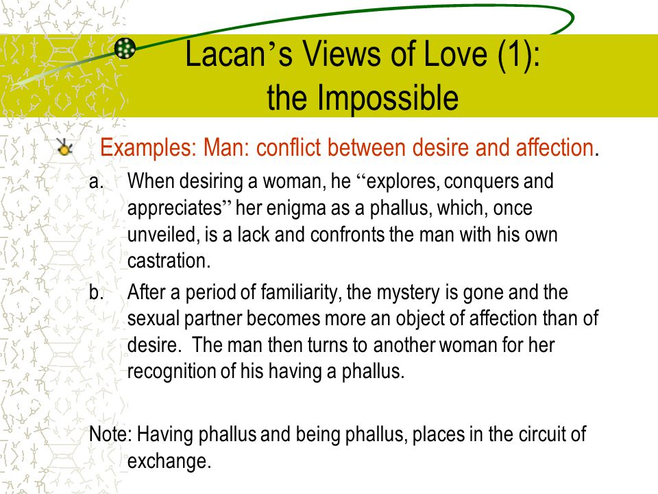 Lacan's Views of Love (1): the Impossible