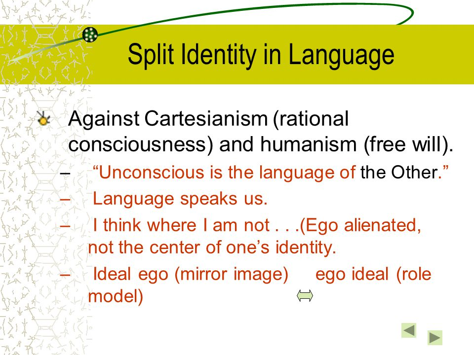 Split Identity in Language