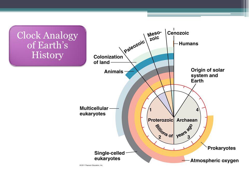 Clock Analogy of Earth's History