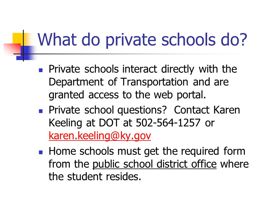 What do private schools do