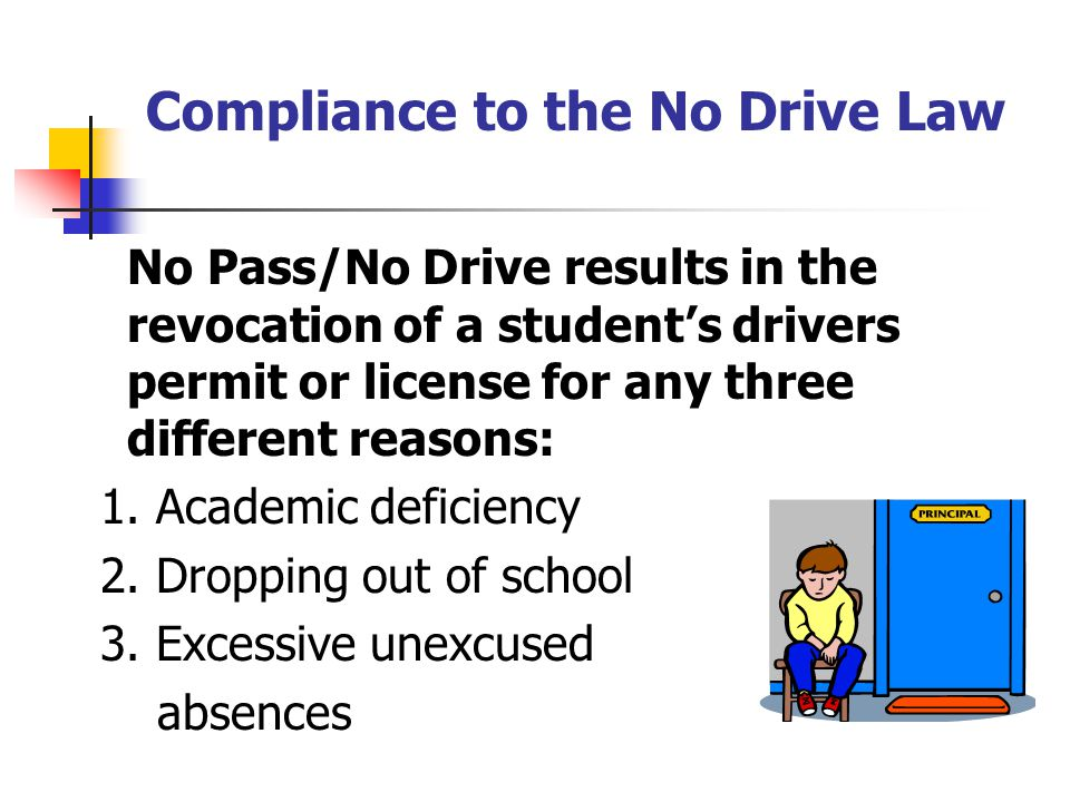 Compliance to the No Drive Law