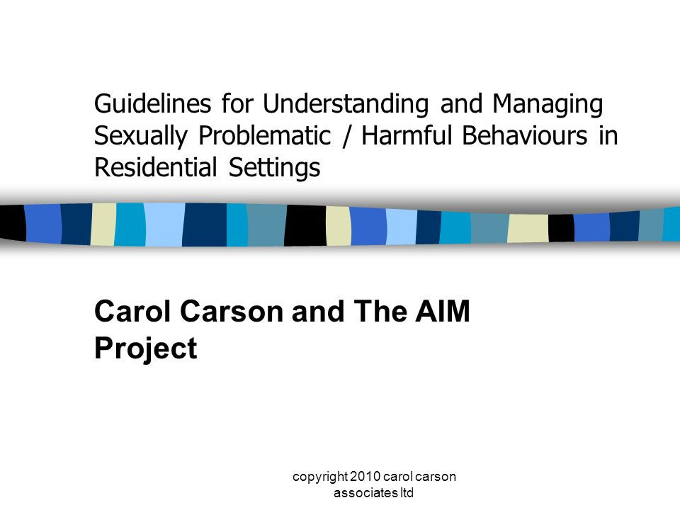 Carol Carson and The AIM Project