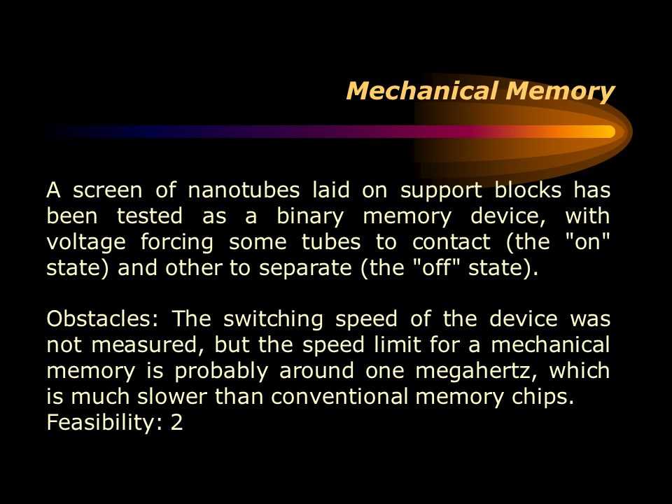 Mechanical Memory