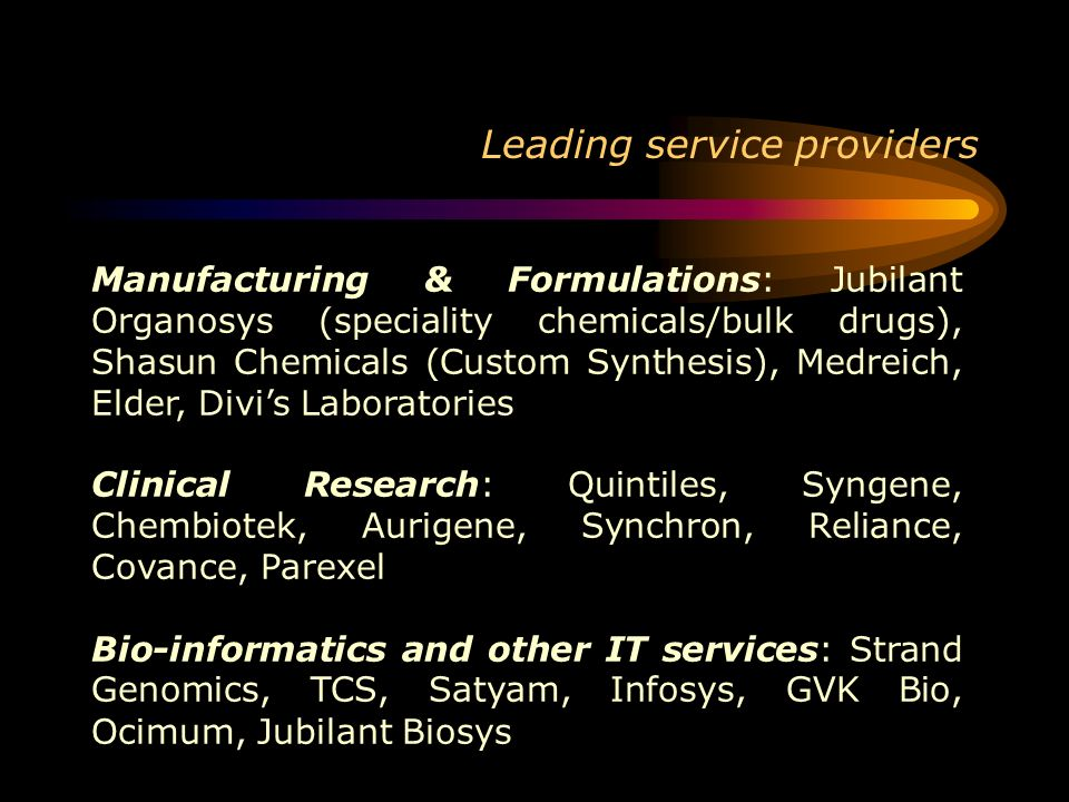 Leading service providers