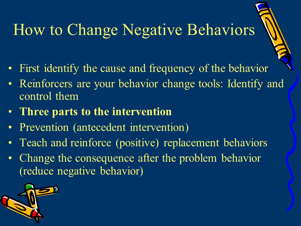 How to Change Negative Behaviors
