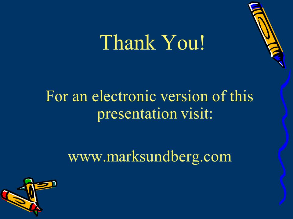 For an electronic version of this presentation visit: