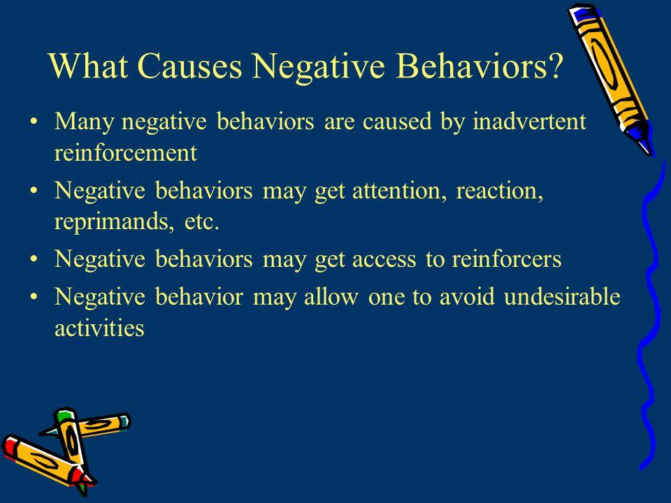 What Causes Negative Behaviors