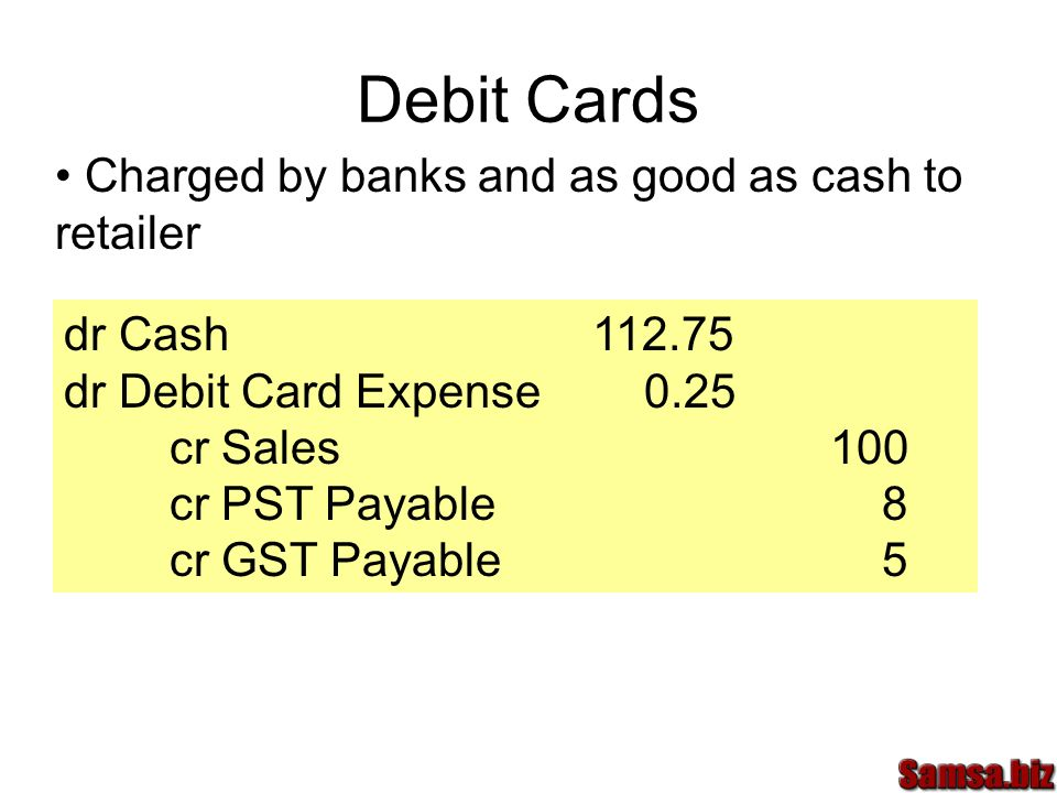Debit Cards Charged by banks and as good as cash to retailer