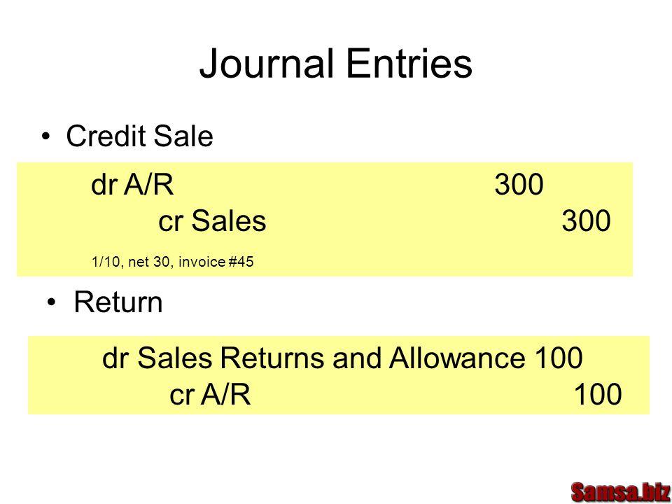 Journal Entries Credit Sale