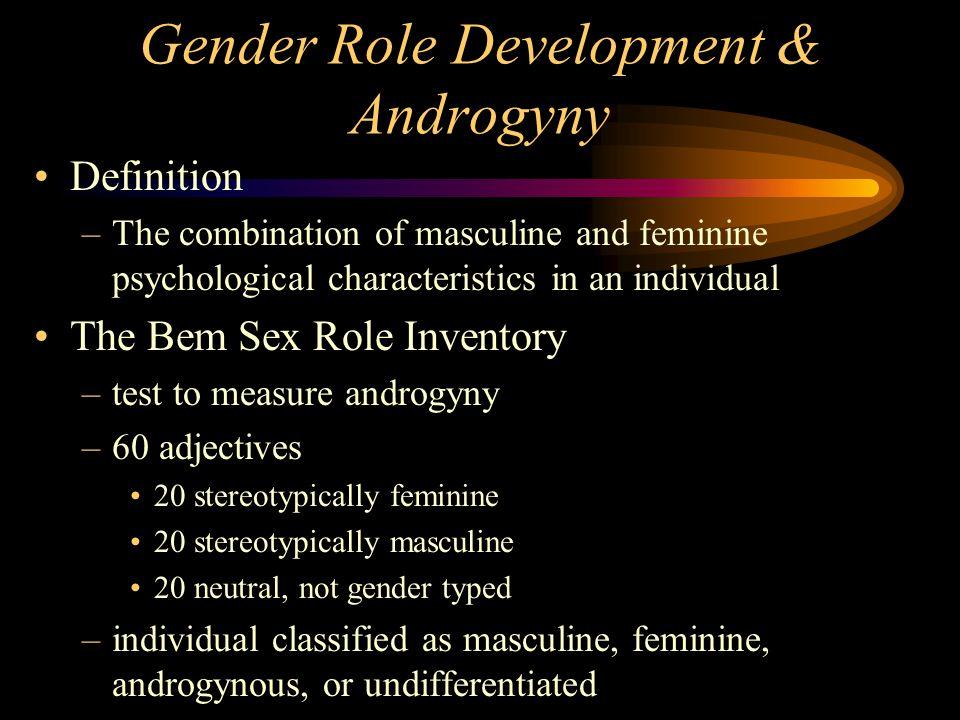 Gender Role Development & Androgyny
