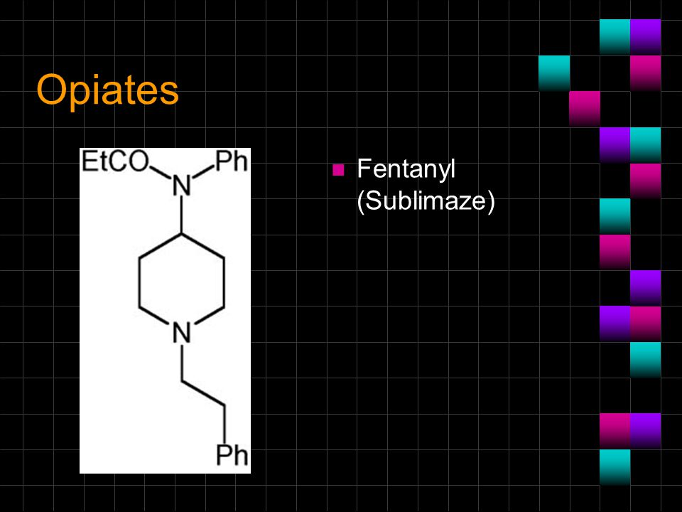 Opiates Fentanyl (Sublimaze)