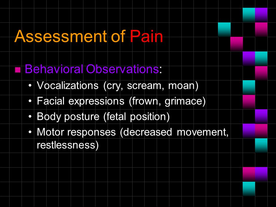 Assessment of Pain Behavioral Observations: