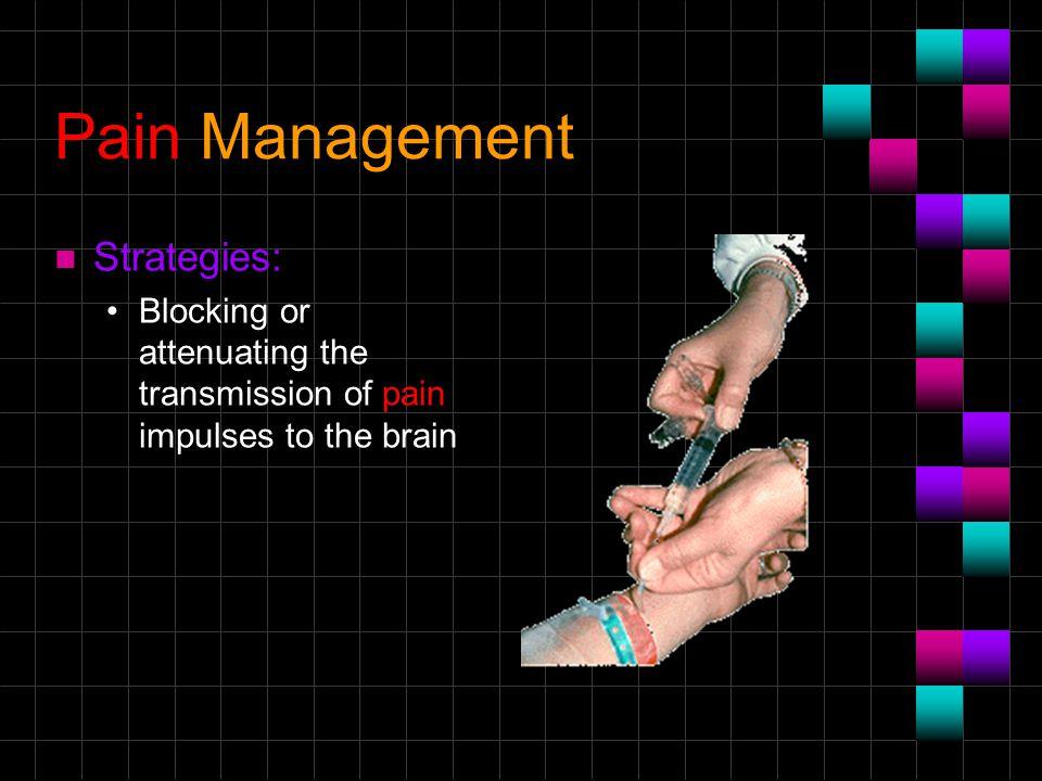 Pain Management Strategies:
