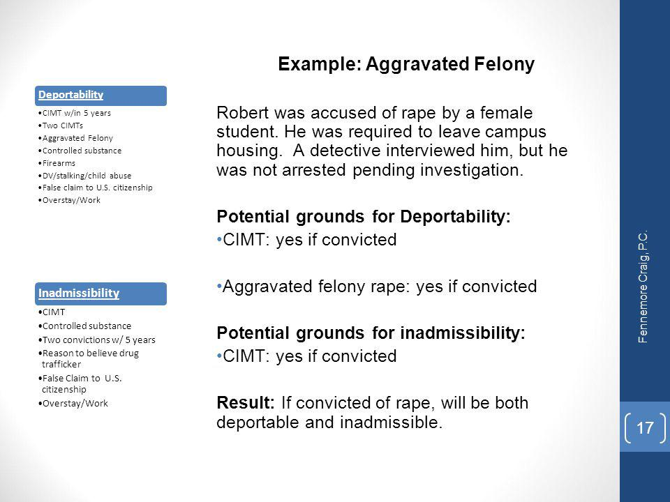 Example: Aggravated Felony