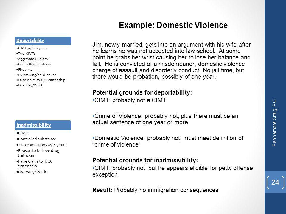 Example: Domestic Violence