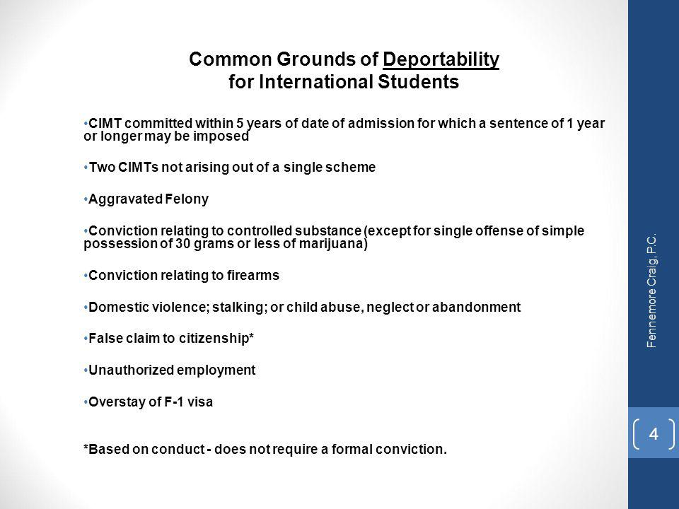 Common Grounds of Deportability for International Students