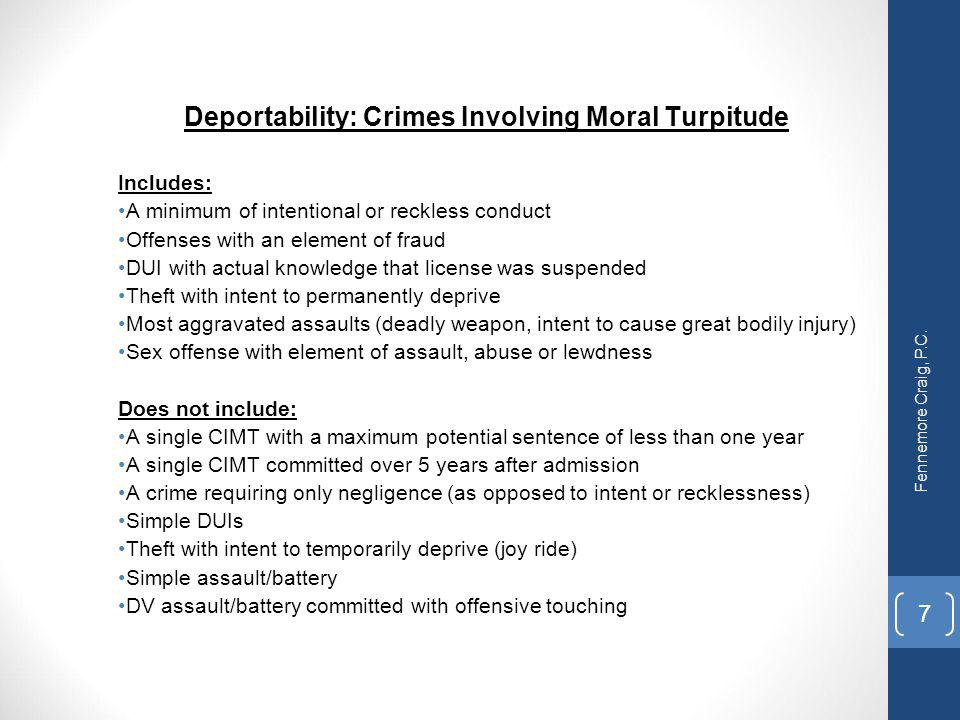 Deportability: Crimes Involving Moral Turpitude