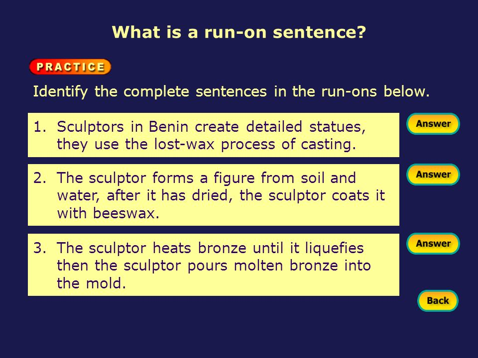Correcting run on sentences ppt download for Soil in sentence