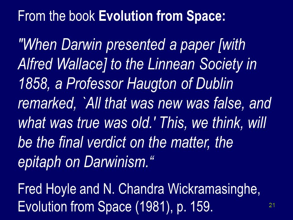 From the book Evolution from Space: