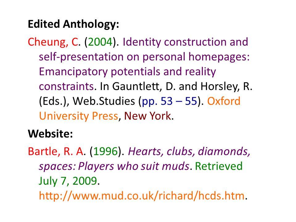 Edited Anthology: Cheung, C. (2004)