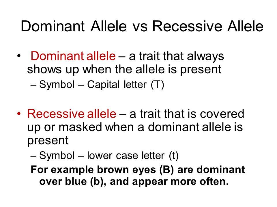 Dominant Allele vs Recessive Allele