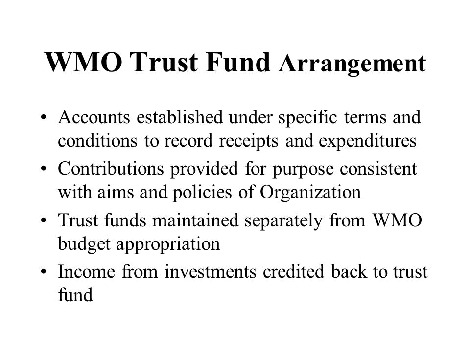 WMO Trust Fund Arrangement