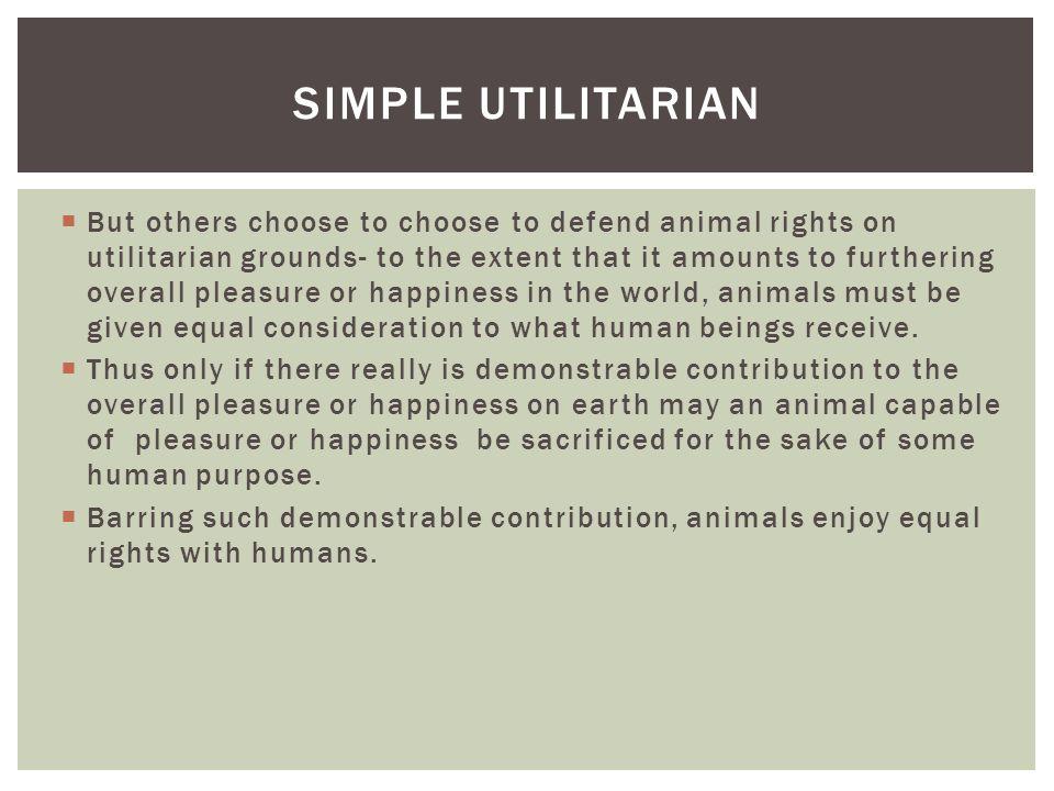 Simple Utilitarian