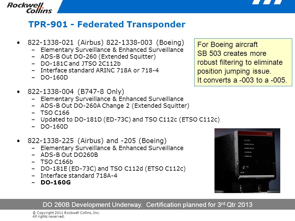 TPR-901 - Federated Transponder