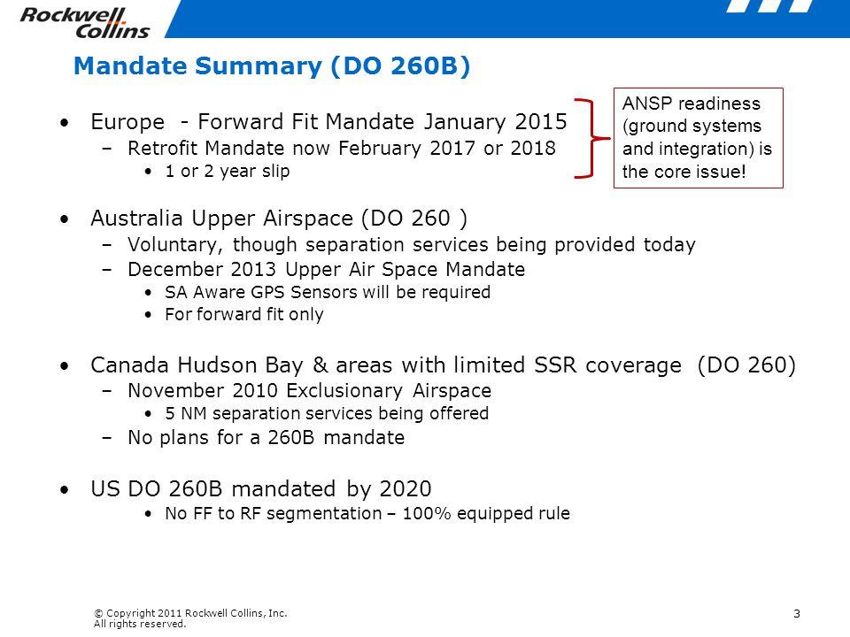 Mandate Summary (DO 260B) Europe - Forward Fit Mandate January 2015