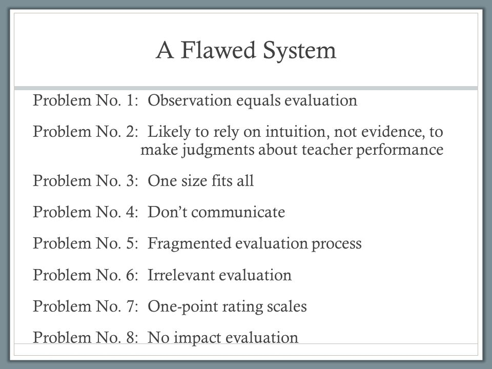 A Flawed System