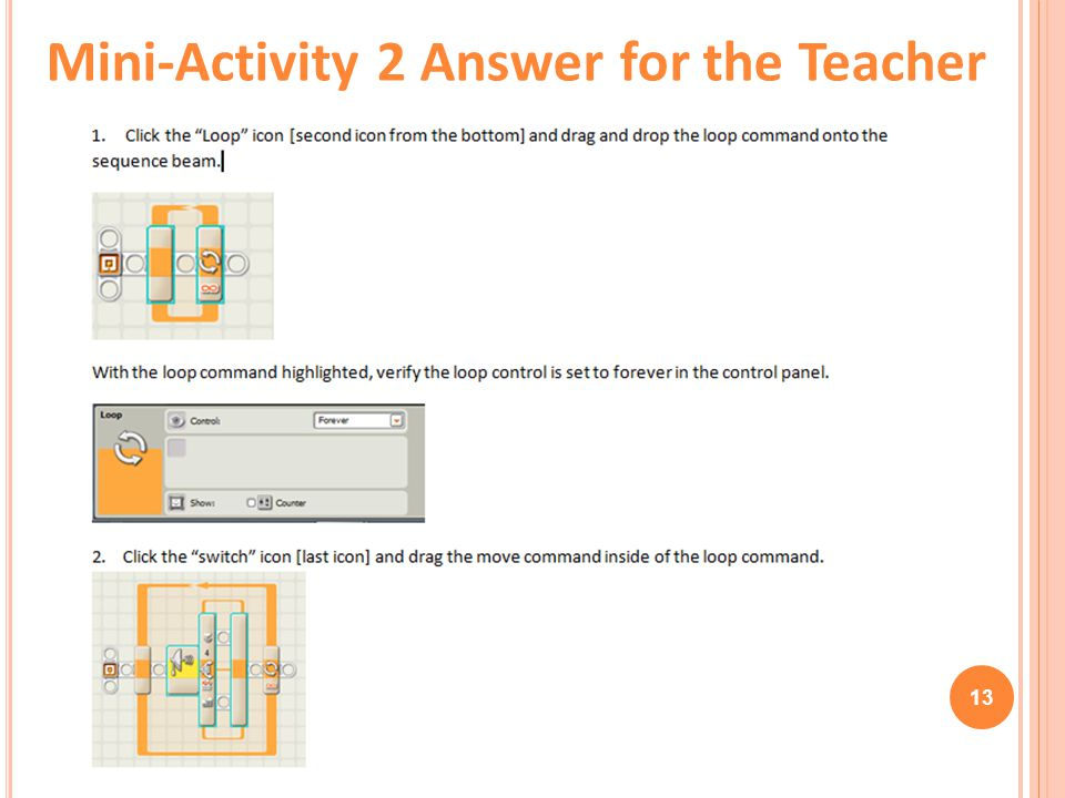 Mini-Activity 2 Answer for the Teacher